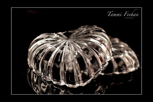 Glass heart 1 framed
